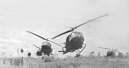 3/22nd Infantry board 187th AHC choppers