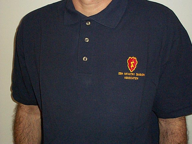 Embroidered 25th Infantry Division Association golf-style shirt ...