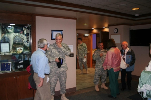 COL THOMPSON-CSM CERVANTES CHAT WITH ATTENDEES